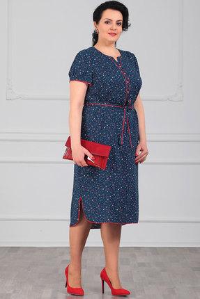 Платье Мадам Рита 5071 синий