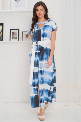 Платье Faufilure с1077 синий
