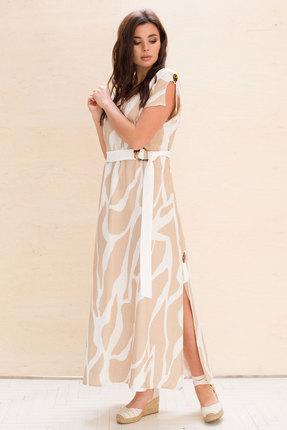 Платье Faufilure с1056 бежевые тона фото