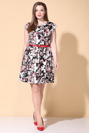 Платье B&F 2027 черно-белый