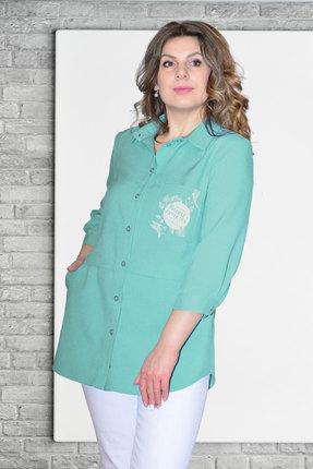 Рубашка Needle Ревертекс 370/12 бирюза фото