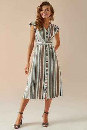 Платье Andrea Fashion AF-3 беж с молочным