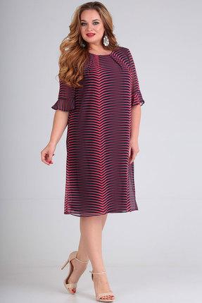 Платье SOVITA 575 синий с розовым
