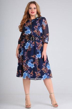Платье SOVITA 745 синий фото