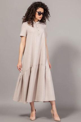 Платье Сч@стье 7078 бежевые тона