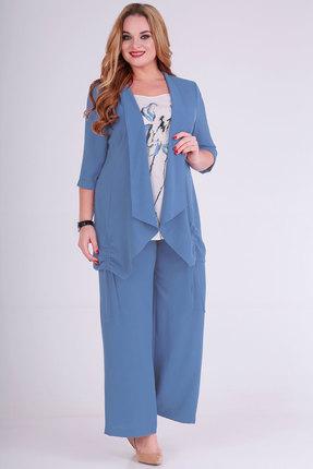 Комплект брючный Viola Style 30498 голубой фото