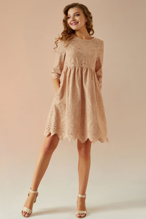 Платье Andrea Fashion AF-19 беж
