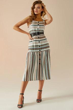 Сарафан Andrea Fashion AF-20 бежевые тона