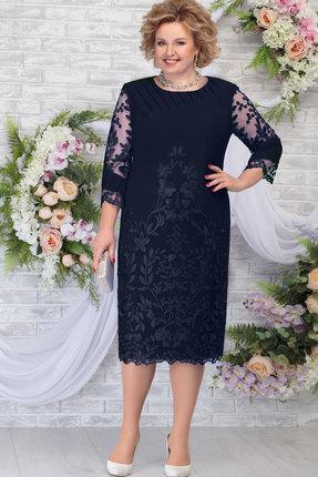 Платье Ninele 5783 тёмно-синий