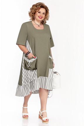 Платье Pretty 1109 зеленые тона