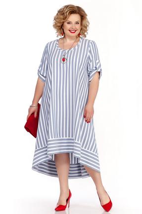 Платье Pretty 1112 голубые тона