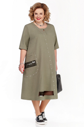 Платье Pretty 1113 зеленые тона