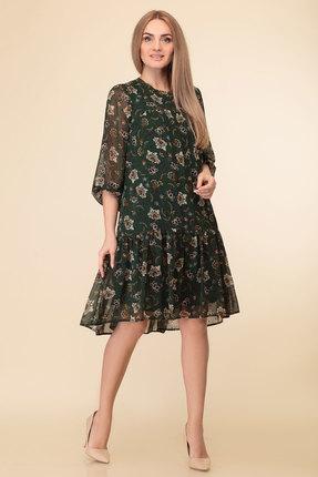 Платье Дали 5334 темно-зеленый фото