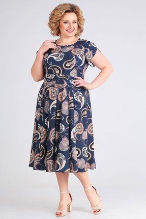 Платье SWALLOW 260 синие тона