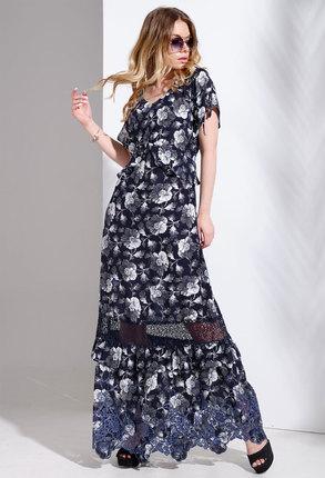 Платье Avanti Erika 1005 синие тона