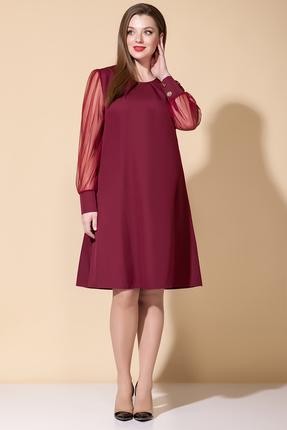 Платье B&F 2036 бордовые тона