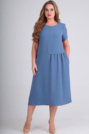 Платье Elga 01-601 голубой фото