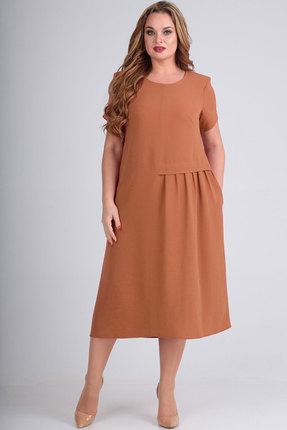 Платье Elga 01-601 коричневый фото