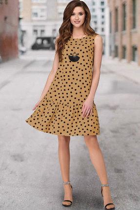 Платье ТАиЕР 848 кемел