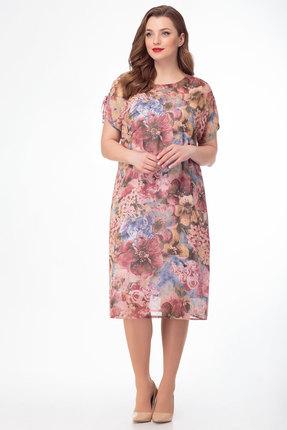 Платье Anelli 718 розовые тона