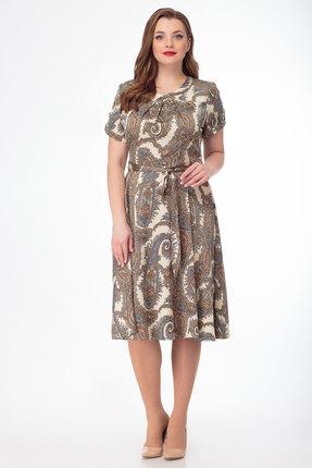 Платье Anelli 217 коричневые тона фото