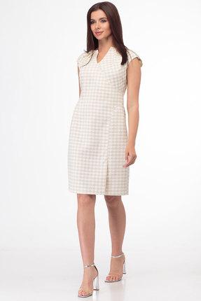 Платье Anelli 307 бежевые тона фото