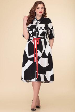 Платье Дали 5466 черный с белым фото