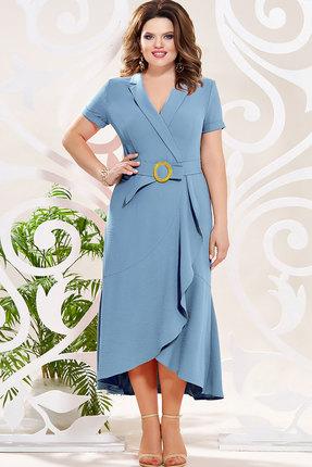 Платье Mira Fashion 4805 голубые тона