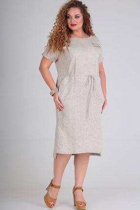 Платье Ришелье 809 натуральный фото