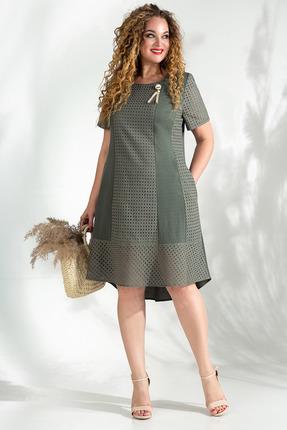 Платье Лилиана 832 темный хаки