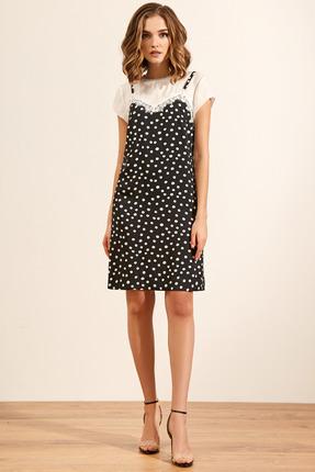 Платье Gizart 5063 черно-белый фото