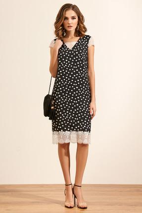 Платье Gizart 5068 черный в горох
