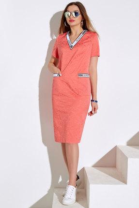 Платье Lissana 4028 коралловый фото