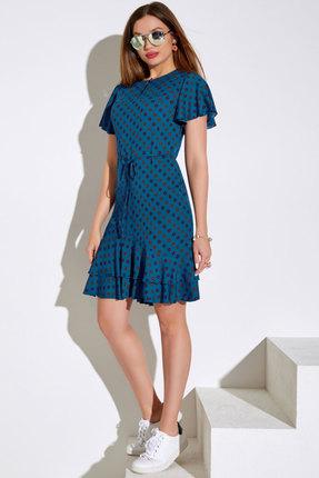 Платье Lissana 4042 сине-бирюзовые тона фото