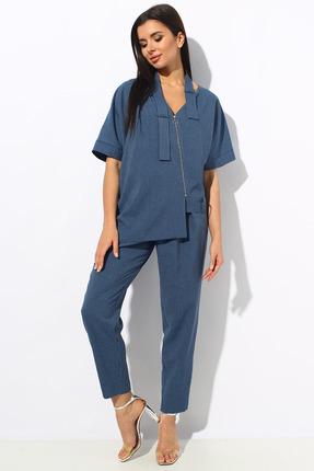 Комплект брючный Миа Мода 1157 синий индиго фото