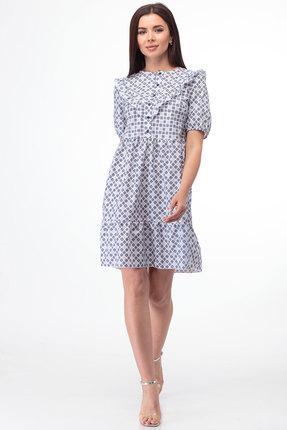 Платье Anelli 835 синие тона