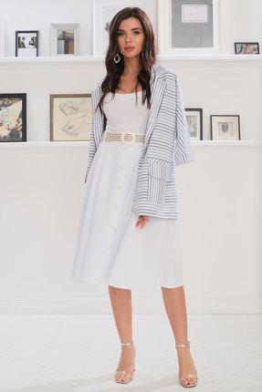 Комплект юбочный Ladis Line 1237 белый с серым фото