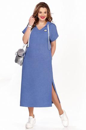 Платье TEZA 1244 синий