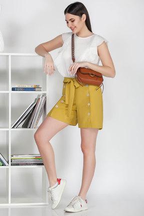 Комплект с шортами Ivelta plus 2916 желтый с молочным фото