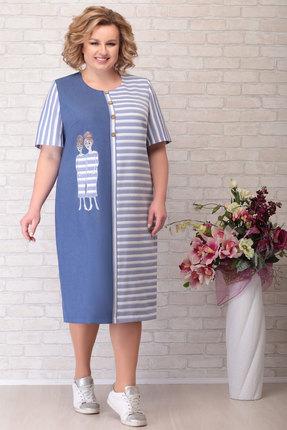 Платье Aira Style 754 синий фото