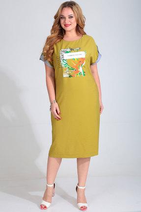 Платье Golden Valley 4682 горчица фото