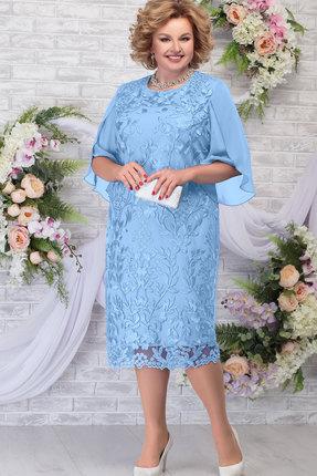Платье Ninele 7289 голубой