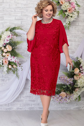 Платье Ninele 7289 красный фото