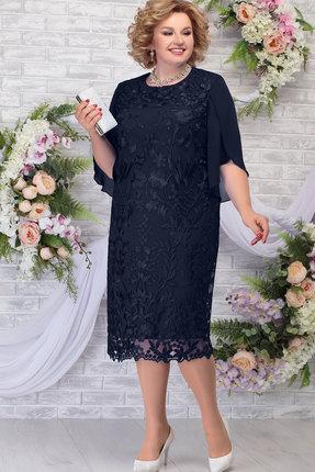 Платье Ninele 7289 тёмно-синий
