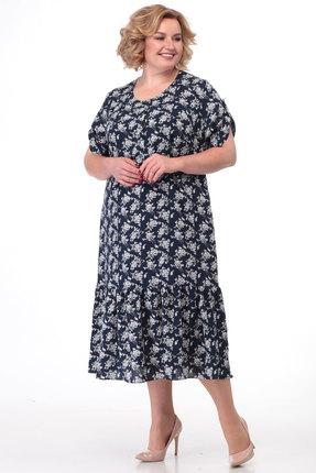 Платье KetisBel 1464 синие тона фото