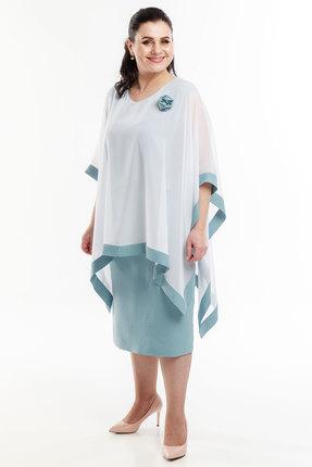 Платье Belinga 1092 молочный с голубым