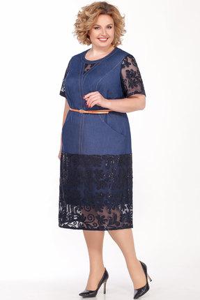 Платье Emilia 01419 джинсовый