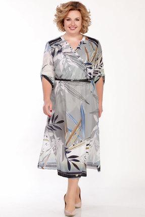Платье Emilia 01466 серо-оливковый