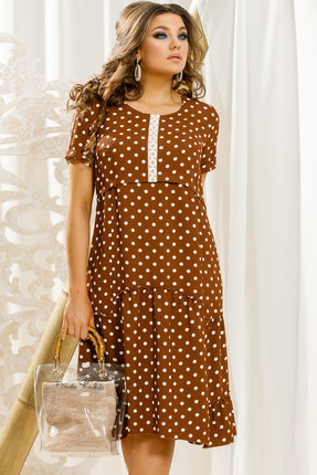 Платье Vittoria Queen 11373 коричневый