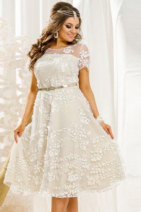 Платье Vittoria Queen 11513 молочный с золотом